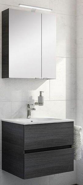 Artiqua Badmöbel WT Set mit Led Spiegelschrank 610 mm