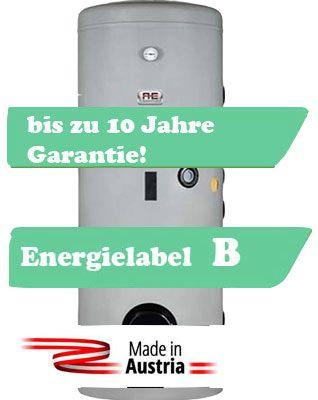 Alva Warmwasserspeicher 200 Liter mit einem Register, Made in Austria mit Energielabel