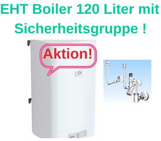 Austria Email Boiler EHT 120 mit Boiler Anschlussgruppe
