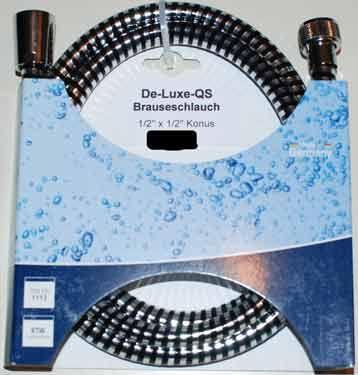 """Brauseschlauch Deluxe 1/2"""" 1500 mm verchromt"""