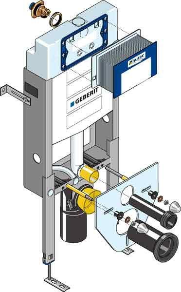 Huter WC Montagegestell mit Unterputzspülkasten für Vormauerung 1010