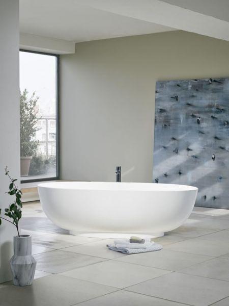 Clearwater Badewanne Puro Clearstone freistehend weiß