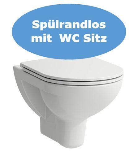 Laufen Pro Wand WC Set spülrandlos 2096.0