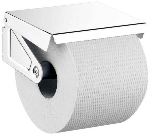 Toilettenpapier Rollenhalter mit Deckel, chrom