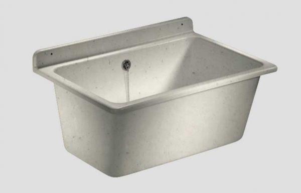 Abu Waschtrog Kunststoff granit mit Überlauf