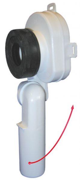 HL 430 Urinal Sifon DN50 Ablauf waagrech oder senkrecht