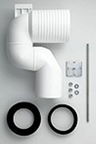 Laufen 9902.5 Ablaufbogen DN100 für WC gekröpft