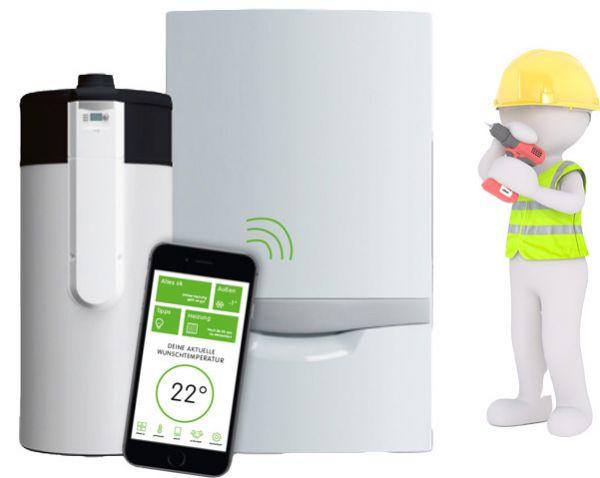 Vaillant Clever und Grün Gas Brennwertheizgerät Set mit Wärmepumpe Zubehör und Montage!
