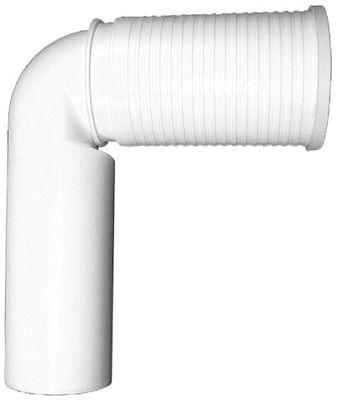HL 224 WC-Anschlussbogen DN110 weiss ablängbar