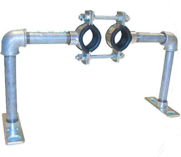 Austroflex Fixpunktschelle für Doppelrohr 20 und 25 2 x 25 mm