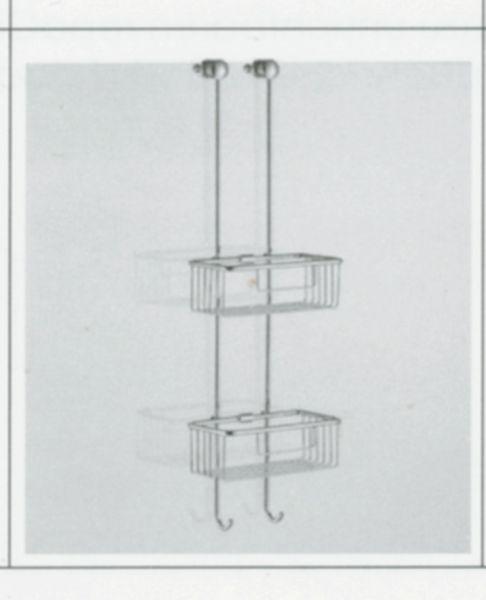 repaBAD Duschkorb chrom zu Dusche auf Wanne