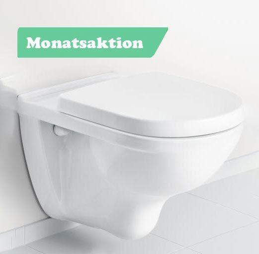 Villeroy & Boch Wand-WC-Set O.novo mit WC- Sitzbrett, 5660