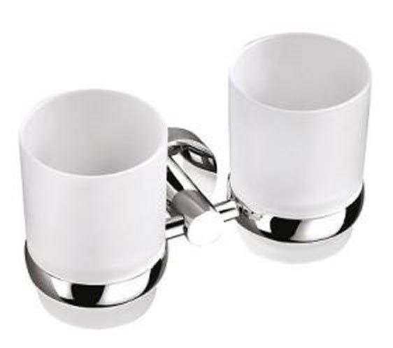 Doppelglashalter mit Kristallglas, Glashalter