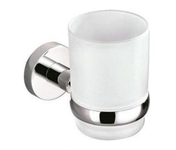 Una Glashalter mit Glas